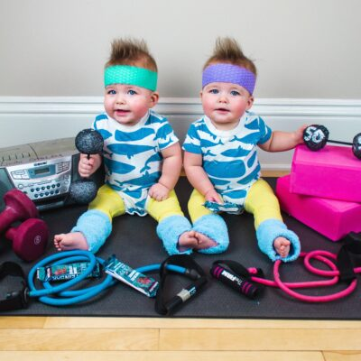 80's Baby Workout Photoshoot