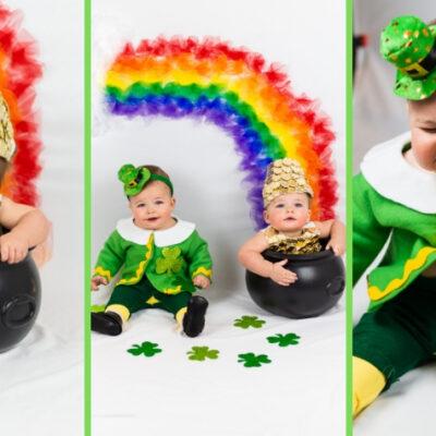 DIY St. Patricks Baby Photoshoot