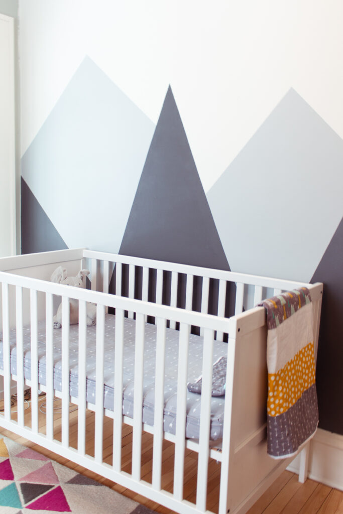 Nursery mountain wall design