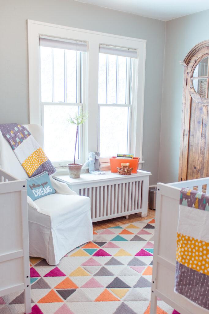 Twin Nursery design and decor