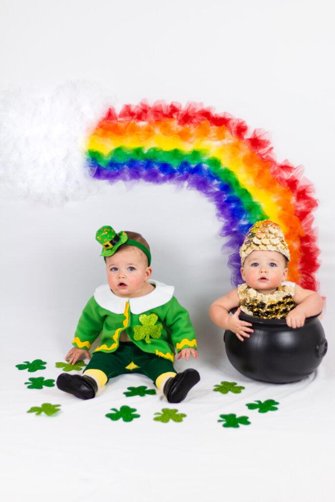Saint patrick's day baby photoshoot