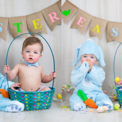 How to take your own Easter baby photoshoot
