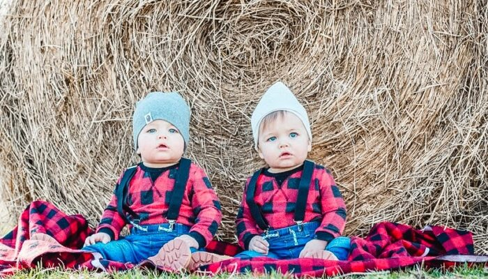 The Twins One Year Old Photoshoot