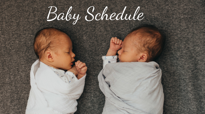 baby daily schedule