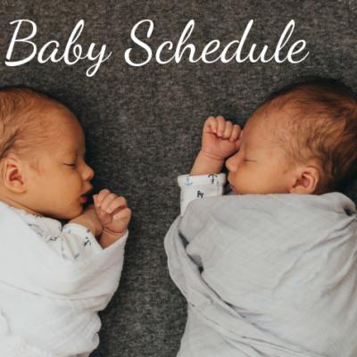 Baby Schedule (First Year)