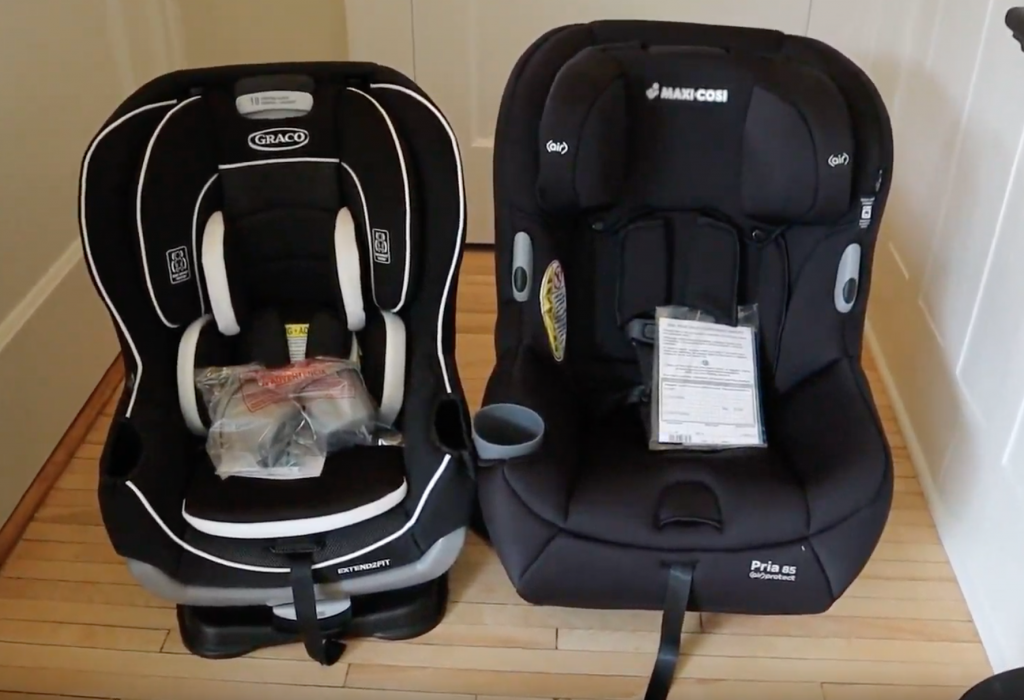 Graco Extend2fit car seat compared to Maxi Cosi Pria 85