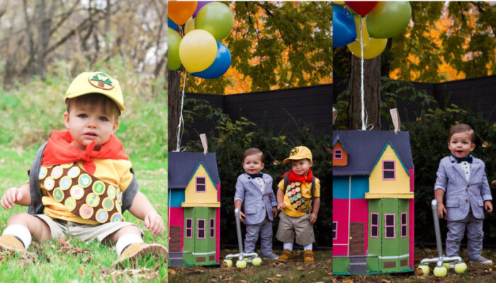 How to make a Toddler Russell and Carl Up costume