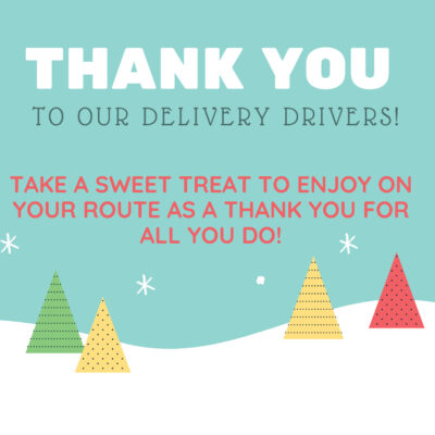 Free Printable's (Thank You Signs for Delivery Drivers)