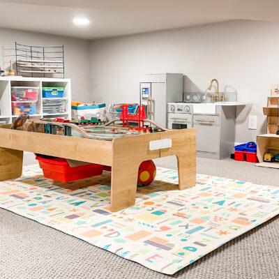 Fun playroom in a hidden crawl space
