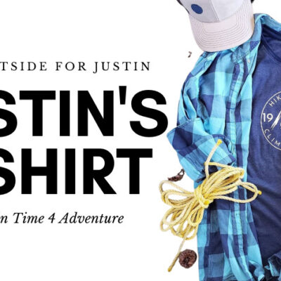 Custom T shirts in honor of Justins love for the outdoors
