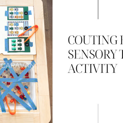 Fun and easy counting bears sensory table for toddlers