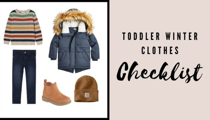 The best checklist for Toddler winter clothes